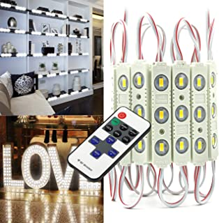 EAGWELL Upgraded Led Module Strip Lights White,10FT 20PCS 5730 SMD 3 LED Module Light for Letter Sign Advertising Signs Storefront Garage with Tape Adhesive Backside