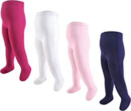 Touched by Nature baby-girls Organic Cotton Tights, 4 Pack Tights