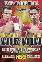 Manny Pacquiao / Juan Manuel Marquez Boxing Fight Poster
