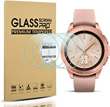 Diruite 4-Pack for Samsung Galaxy Watch 42mm Screen Protector Tempered Glass for Galaxy..