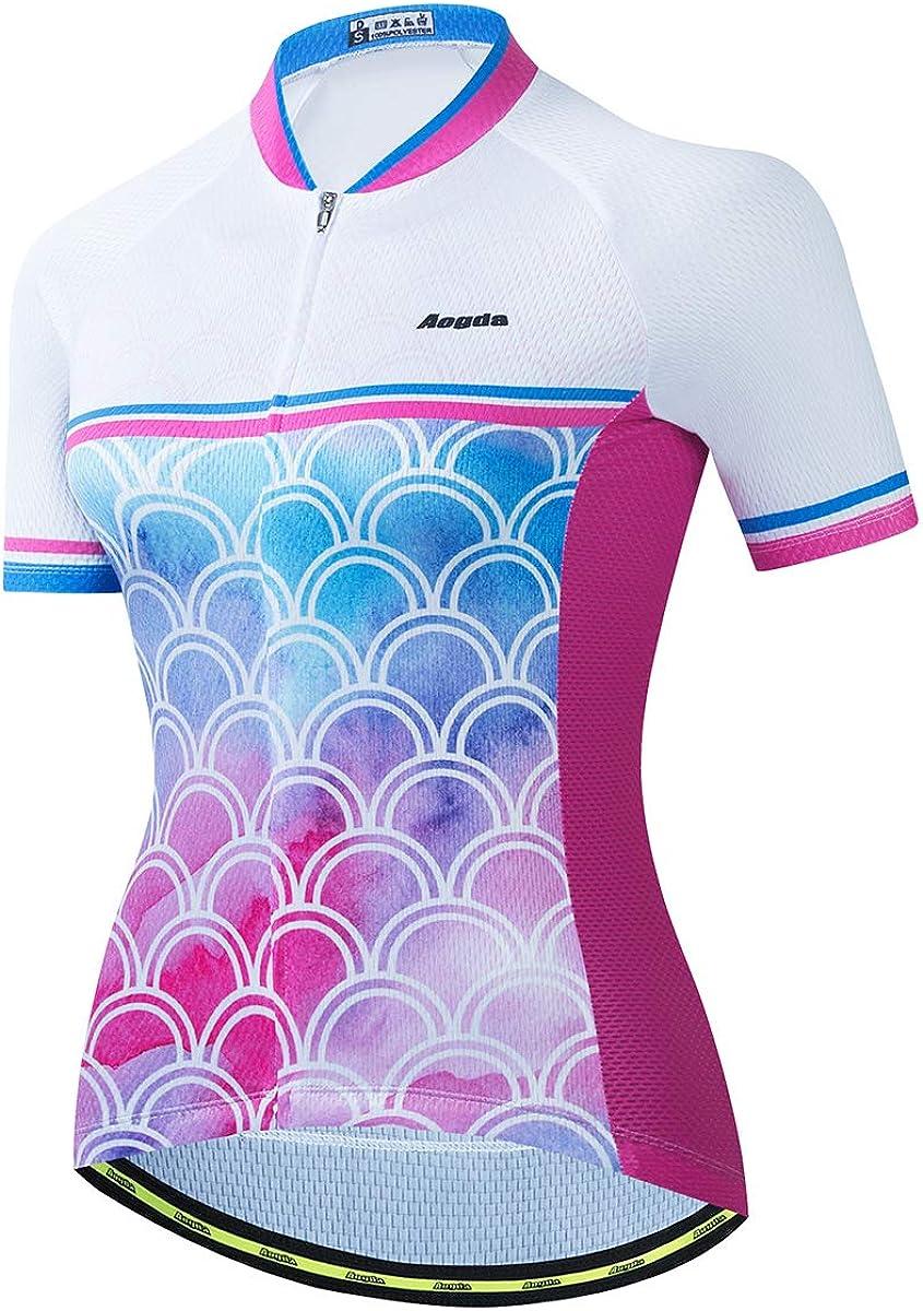 Aogda Biking Shirts Women [Alternative dealer] Cycling Top Bike Sl Jerseys NEW Team Short