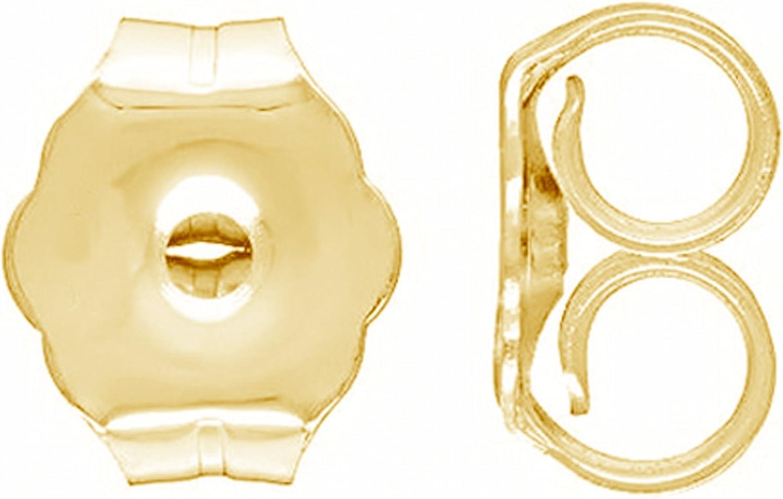 Ritastephens 14K Yellow, Rose Pink, or White Gold Butterfly Earring Backs (Small, Regular)