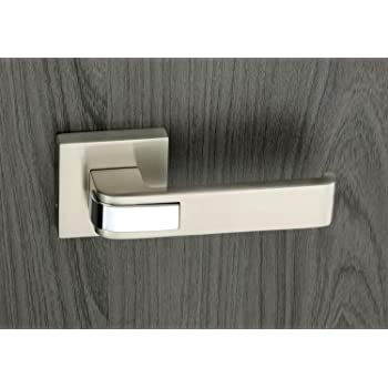 Knex, Rose Mortise Handle with Lock, Matt/CP Finish, Zinc Alloy, K-3062 RB