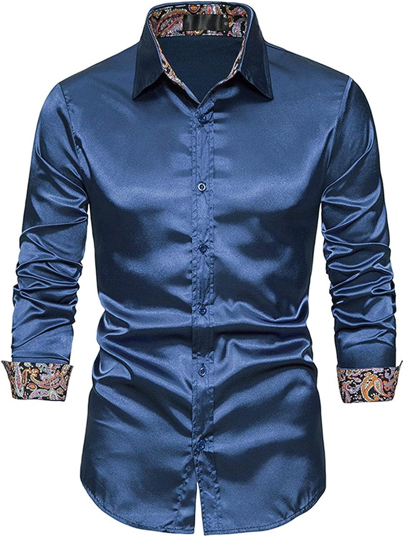 Men's Classic Fit Non-Iron Cotton Plaid Dress Shirt Button Down Shirt Casual Long Sleeve Regular Fit Dress Shirt