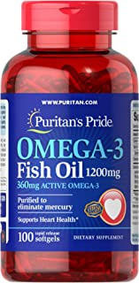 Omega-3 Fish Oil 1200mg, 200 softgels by Puritan's Pride (13328)