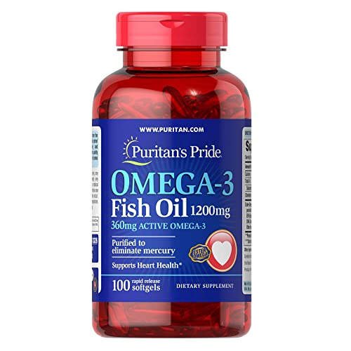 Omega-3 Fish Oil 1200mg, 200 softgels by Puritan's Pride
