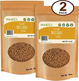 Yamees Mustard Seeds – Yellow Mustard Seeds – Whole Mustard Seeds – Bulk Spices - 2 Pack of 16 Ounce Bags Each