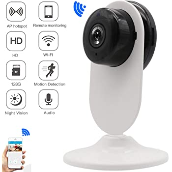 ENEM NV01 CCTV Camera for Home,WiFi Security Camera System for Home/Office/Baby/Nanny/Pet with Mobile Connectivity, Supports Upto 64 Gb Micro Sd Card   1280X720P  Pack of 01   6 Month Warranty