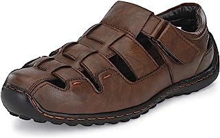 Centrino Men's Brown Fisherman Sandals