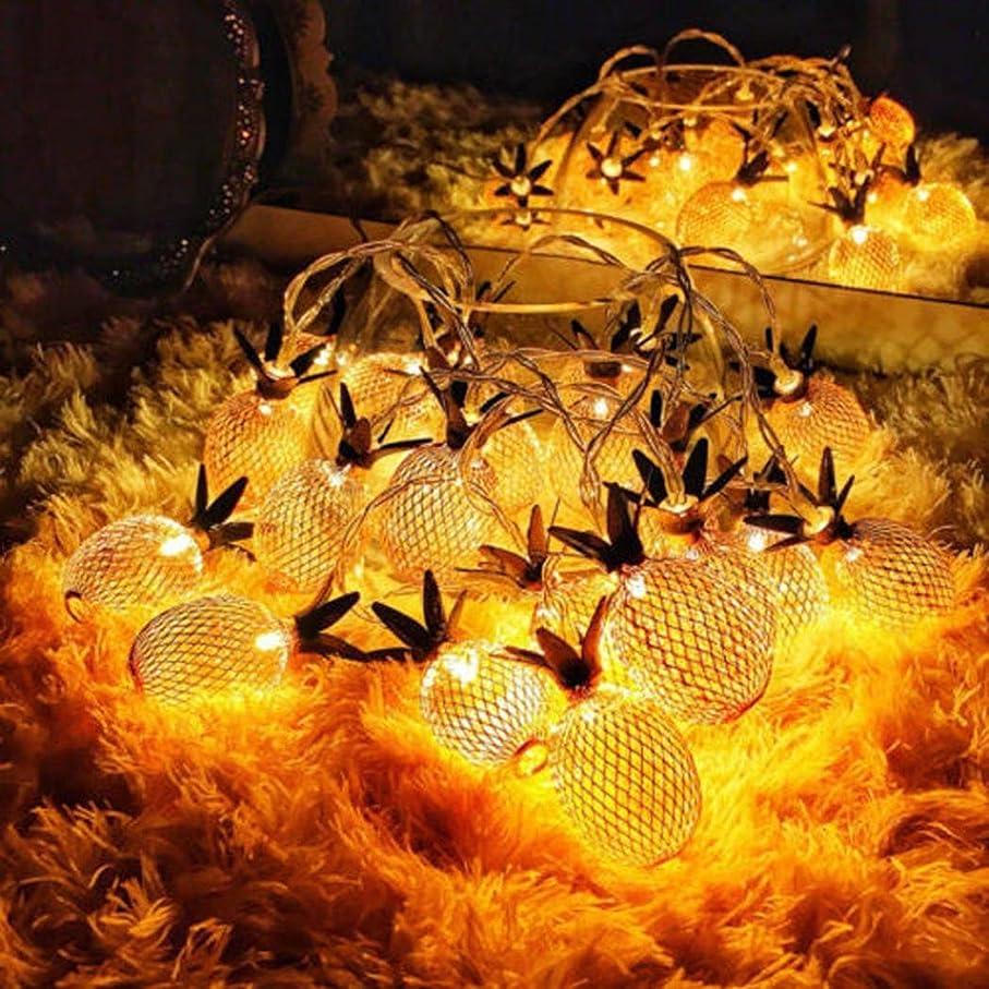 キャメル瞑想番号Aliciga ソーラー イルミネーションライト パイナップル型 5m 20球/3.5m 10球 装飾 LED ストリングライト 屋外 室内 お庭 防水 飾り 点滅ライト パーティー デコレーション バレンタインデー クリスマス 祝日 結婚式 雰囲気を作成 電飾 (3.5)