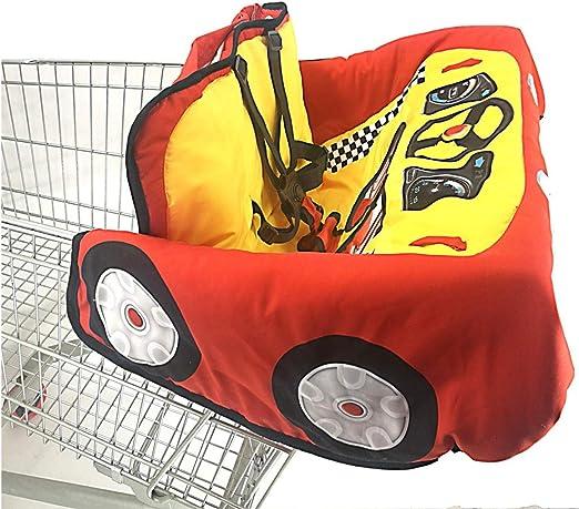 Das Stuhl ProtectionTravel Bewegliche Kissen-Einkaufswagen-Abdeckung Speist Leiyini 2 In 1 Baby Baumwolle Warenkorb Cover Hochstuhl Abdeckung Kindersupermarkt-Einkaufswagen-Kissen