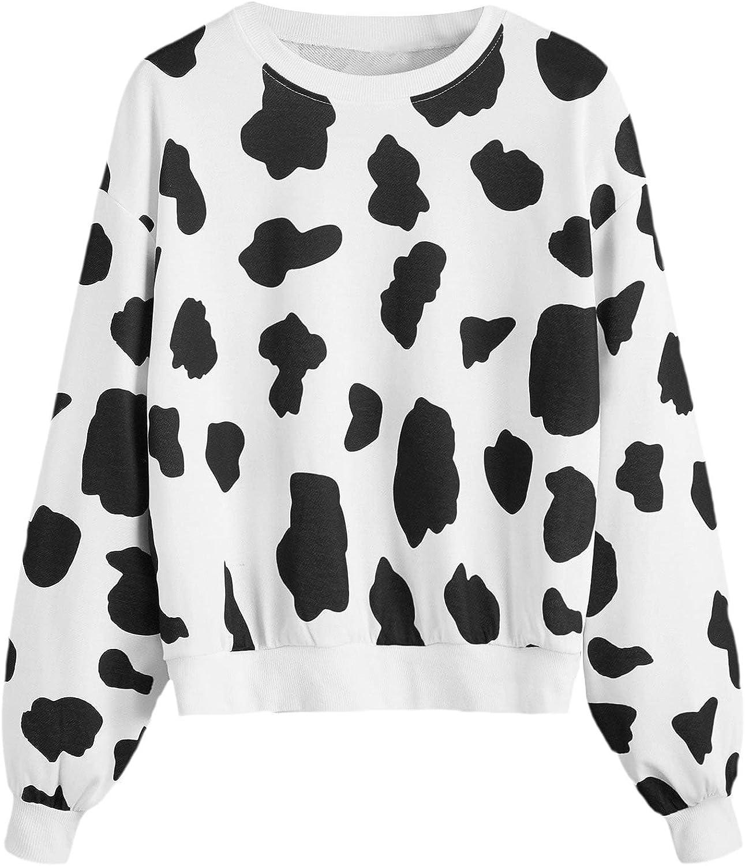 Verdusa Women's Long Sleeve Letter Graphic Drop Shoulder Pullover Sweatshirt Top