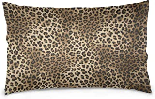 alaza Animal Leopard Print Cotton Standard Size Pillowcase 26 X 20 Inches Twin Sides, Tiger Print Pillow Case Sham Cover Protector Decorative for Couch Ded