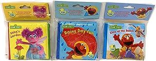 Sesame Street Bath Time Fun Mini Bath Books Elmo and Abby, Set of 3
