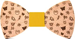 Original wood gift Fresh fruits pattern Wooden bow tie Tutti Frutti Fashion collection for men: wedding /& events