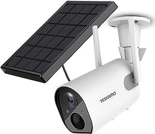 Solar Security Camera Wireless Outdoor WiFi Camera, YESKAMO HD 1080P Solar Powered Camera 10400mAh Battery IP Camera for H...
