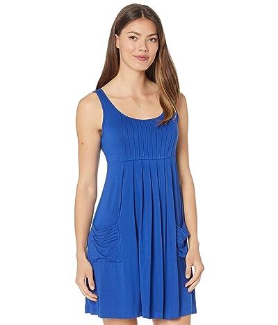Calvin Klein Rayon Span A-Line Dress with Pockets Women