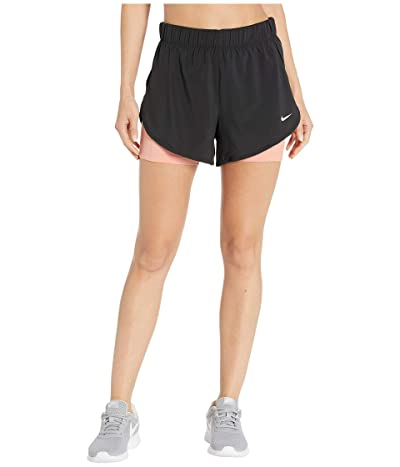 Nike Flex 2-in-1 Woven Shorts (Black/Pink Quartz/White) Women