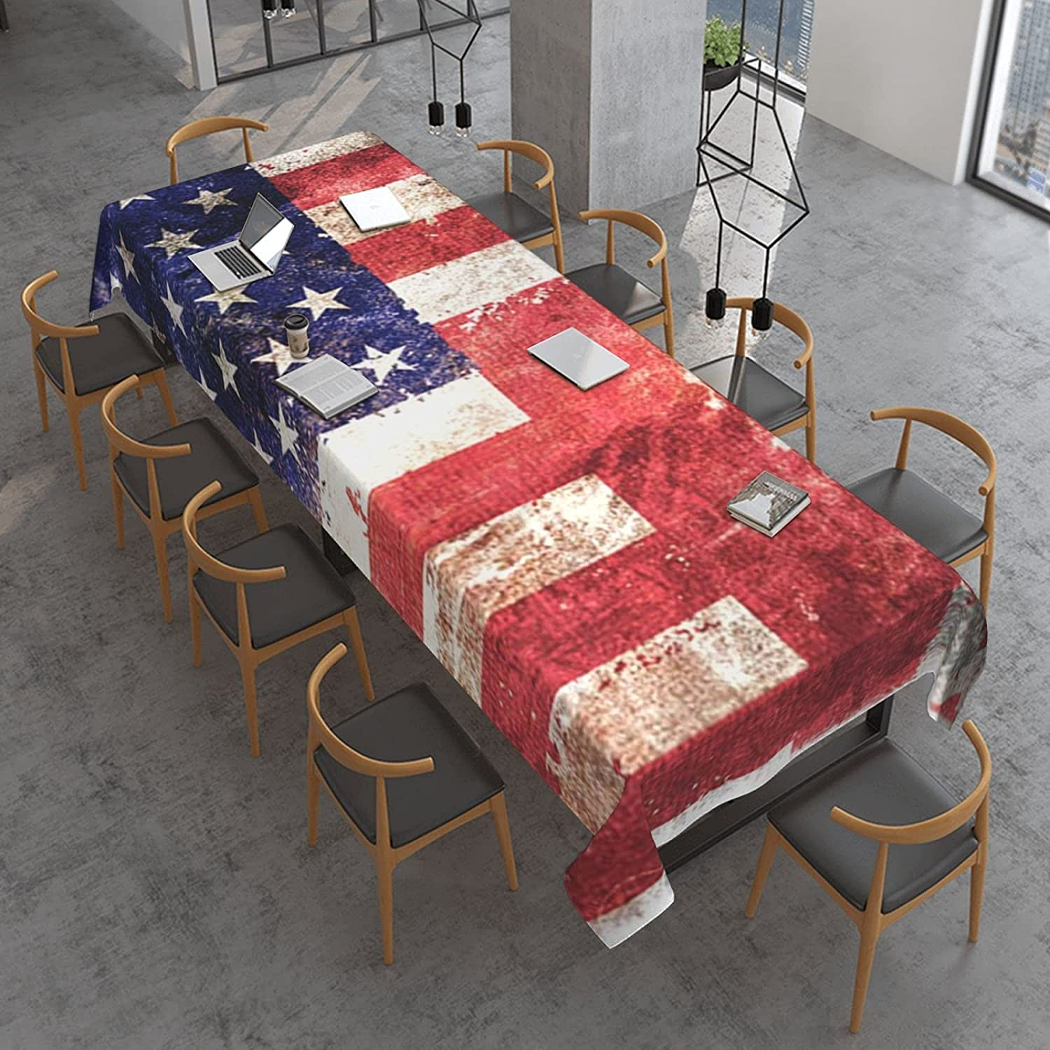 Canada United States Flag Rectangle Spill Oil store Proof Cloth El Paso Mall Table