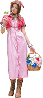 DAZCOS US Size Adult Women's VII Aerith Gainsborough 1st Cosplay Costume