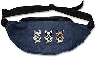 SWEET-YZ Unisex Waist Pack Frech Bulldog Soccer Flat Fanny Bag Pack for Sport Running