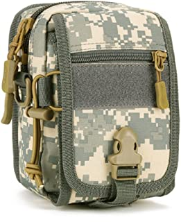 UNISTRENGH Tactical MOLLE Phone Magazine Pouch Military Small Velcro Belt Pouches Sling Chest Daypack Shoulder Bag Gear Duty Pack for Outdoor Hunting Vest Backpack