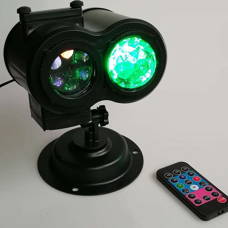 YXXHM- LED Outdoor Wasserdichte Doppelrohr-Karte Wasser Muster Lampe Projektion Lampe Bar Licht Wasser Muster Rasen Lampe