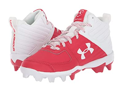 Under Armour Kids Leadoff Mid RM Baseball (Toddler/Little Kid/Big Kid) (Red/White) Kids Shoes