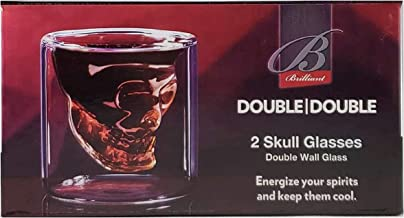 Brilliant - Double Wall Skull Shot Glass 59 ML Set of 2