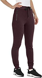 Sponsored Ad - MAGNIVIT Women's Jogger Pants with Zipper Pockets Cotton Pants Breathable Soft Running Gym Pants