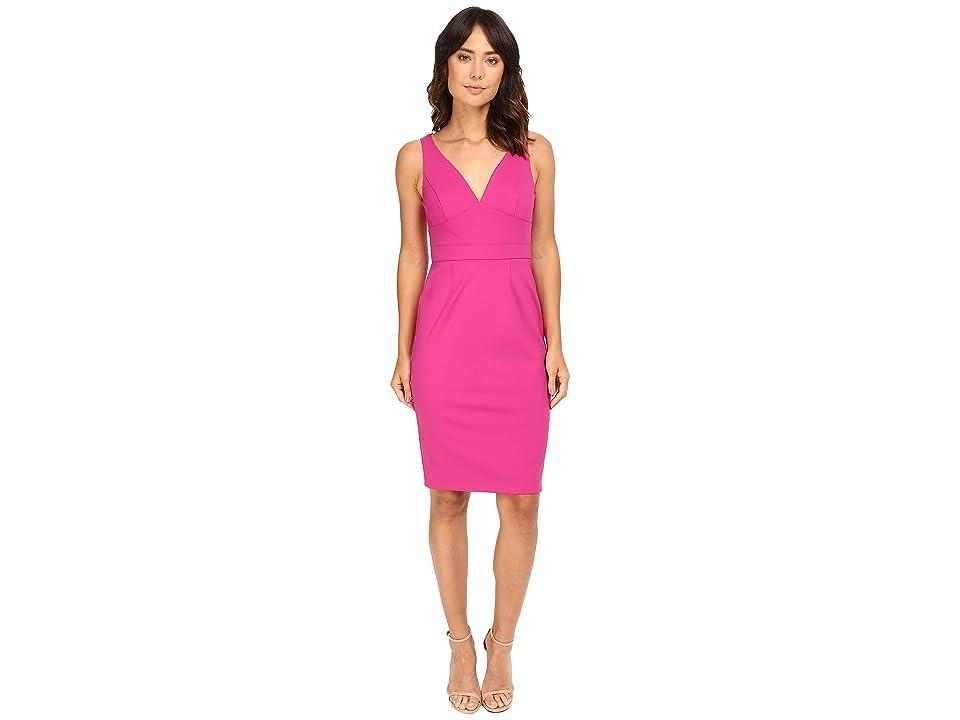 Adrianna Papell Cut Out Neoprene Column Dress (Pink) Women