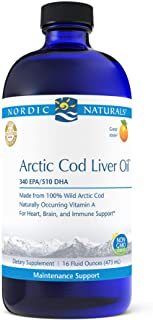Sponsored Ad - Nordic Naturals Pro Arctic Cod Liver Oil, Orange - 16 oz - 1060 mg Total Omega-3s with EPA & DHA - Heart & ...