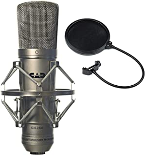 CAD GXL2200 Cardioid Condenser Recording Broadcasting Microphone + Pop Filter