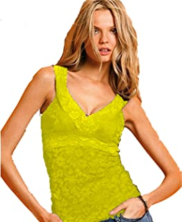 YOLI Women's Sexy Lace Overlay Blouse Sleeveless Summer Casual Tee Shirts Tops T-Shirt