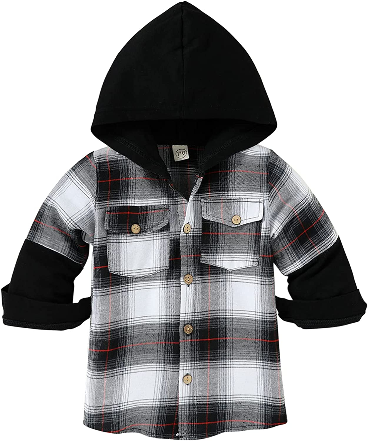 Baby Boy Clothes Toddler Classic Plaid Hoodie Infant Long Sleeves Sweater Fall Winter Clothing