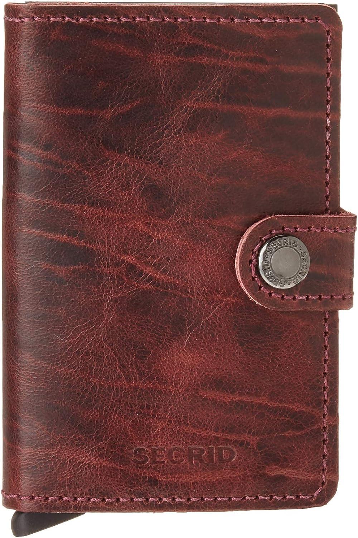 Secrid Mini Wallet, Bordeaux Dutch Martin, Genuine Leather w/RFID Protection