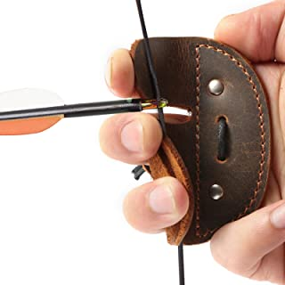 Details about  /Archery Soft Leather Finger Tab Protector Guard Hunting Practice Left//Right Hand