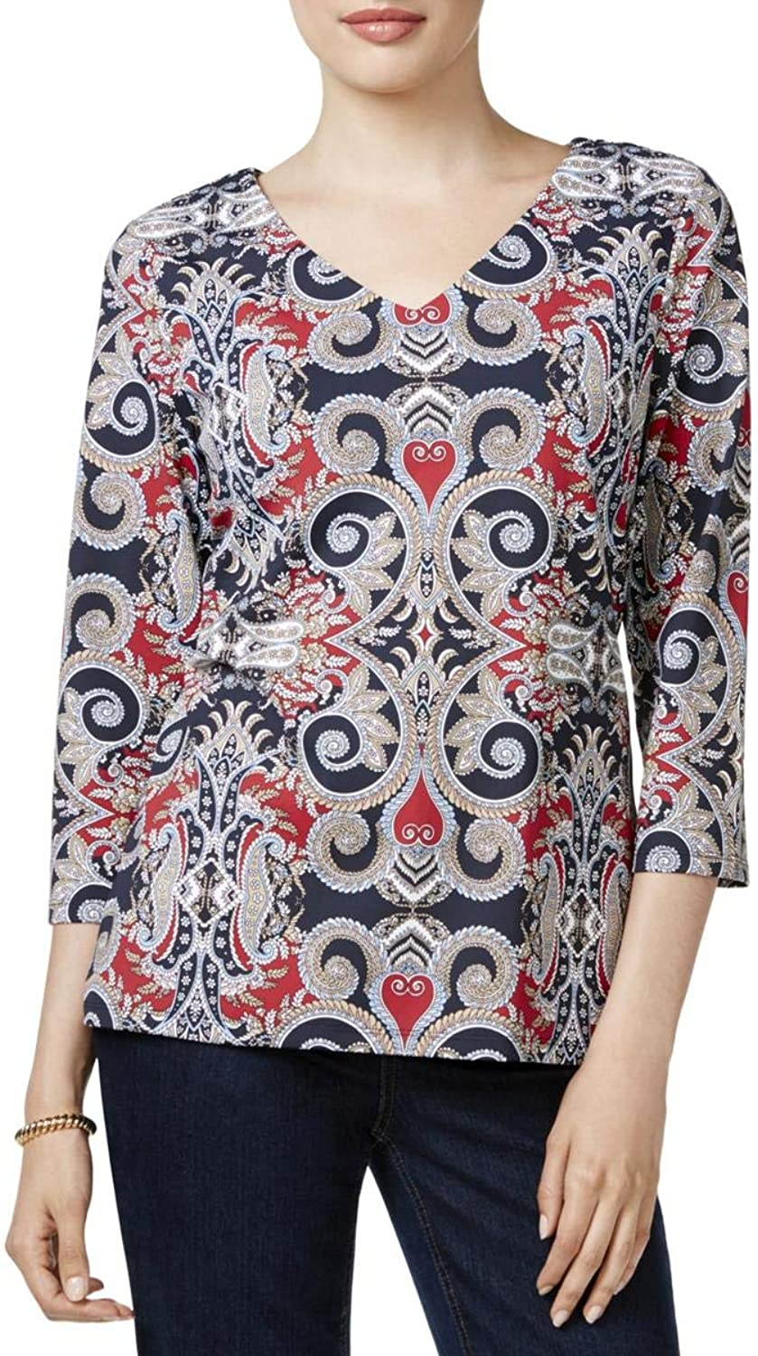 Charter Club Womens Petites Office Wear Professional Blouse