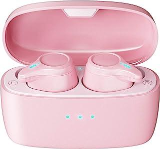$21 » Sponsored Ad - True Wireless Earbuds, Pink Bluetooth 5.0 Wireless in-Ear Headphones IPX5 Waterproof for Running and Sport,...