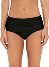ATTRACO Women's Bikini Bottoms High Cut Swim Bottom Ruched Swimwear Briefs