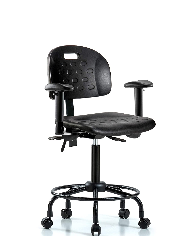 LabTech Seating LT20 Handle Medium Bench Chair, Polyurethane ...