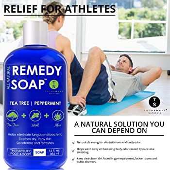 Remedy Soap Tea Tree Oil Body Wash, Helps Body Odor, Athlete's Foot, Jock Itch, Ringworm, Yeast Infections, Skin Irri...