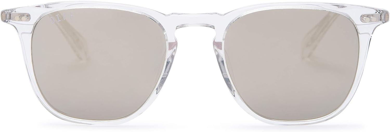 DIFF Eyewear - Maxwell - Designer Square Sunglasses for Men and Women - 100% UVA/UVB [Polarized]