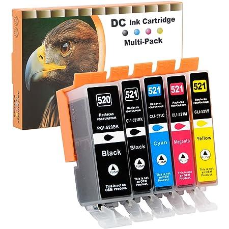 D C 5 Druckerpatronen Komp Für Canon Pgi 520 Cli 521 Pixma Ip3600 Ip4600 Ip4700 Mp540 Mp550 Mp560 Mp620 Mp630 Mp640 Mp980 Mp990 Mx860 Mx870 Bürobedarf Schreibwaren