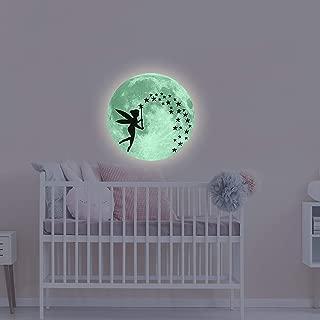 Glow in The Dark Moon Wall Stickers, Fairytale Fairy Glow in The Dark Stars Wall Decals for Kids Girls Nursery Bedroom Decor