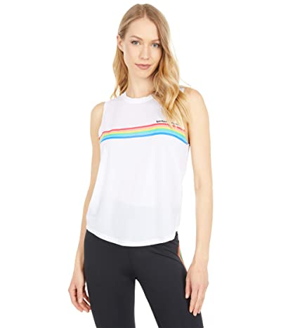 Spiritual Gangster Rainbow Active Muscle Tank (White) Women