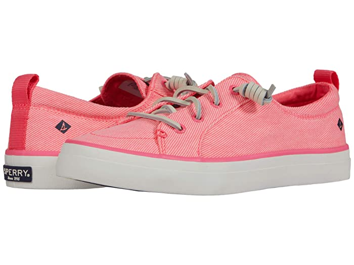 Sperry  Crest Vibe Washed Twill (Neon Pink) Womens Shoes