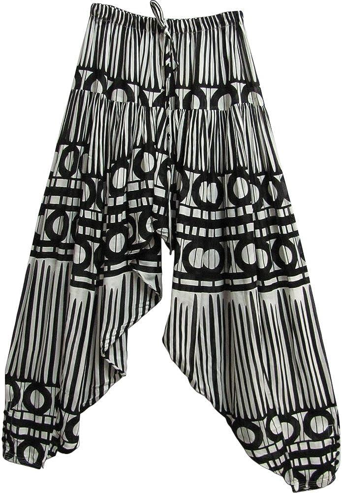 Yoga Sacramento Mall Trendz Black White Printed Pan Gypsy Bohemian Spring new work one after another Harem Gauze