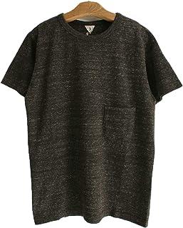 FilMelange (フィルメランジェ) DIZZY ディジー オーガニックコットンポケットTシャツ -BLACK MELANGE-