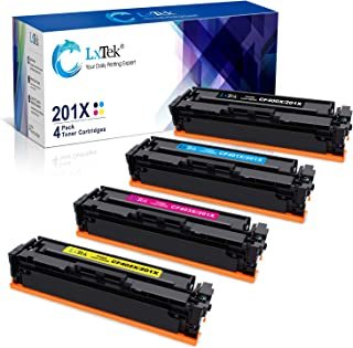 LxTek Compatible Toner Cartridge Replacement for HP 201X 201A CF400X CF401X CF402X CF403X CF400A to use with Laserjet Pro MFP M277dw M252dw M277c6 M277n M252n Printer (4 Pack)